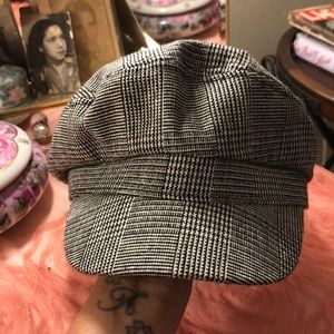 Tweed print Newsboy cap